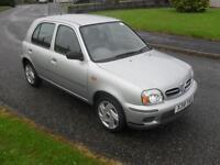 Nissan Micra 1.4 16v CVT 2001MY S Auto ONLY 15477 Mls NEW MOT 1 Lady Owner FSH