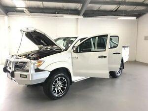 2008 Toyota Hilux KUN26R 08 Upgrade SR (4x4) White 5 Speed Manual Dual Cab Pick-up Frankston Frankston Area Preview