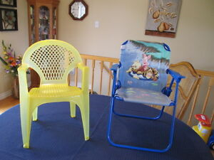 TWO CHILDREN'S SUMMER CHAIRS