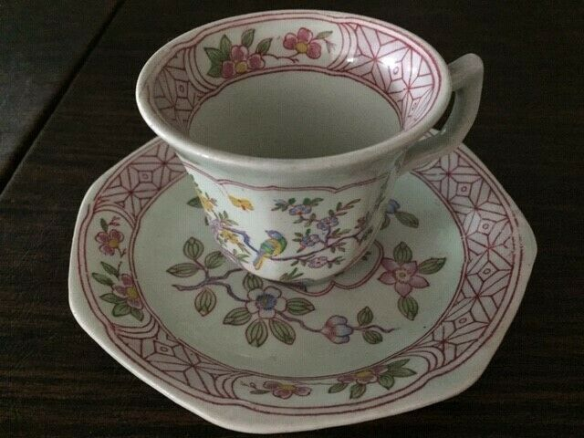 SIngapore bird by Adams cup and saucer