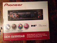 Pioneer DAB car radio - DEH X6500DAB