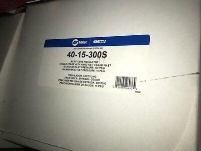 Miller - Smith Equipment Acetylene Regulator 40-15-300s Yellow