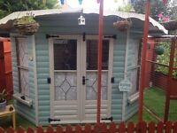 Summer Corner House Shed 7x7