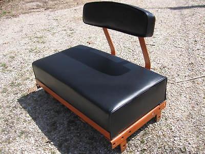 Allis Chalmers B-c Seatback Cushion Set Smooth Black