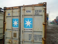 Shipping containers 40' used for $1,600
