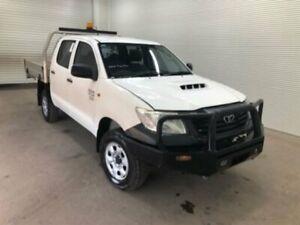 2013 Toyota Hilux KUN26R MY12 WORKMATE DOUBLE CAB Glacier White Automatic Dual Cab Utility Bohle Townsville City Preview
