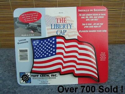 Waving American Flag Tow Hitch Cover (Liberty Cap) Plastic fits 2