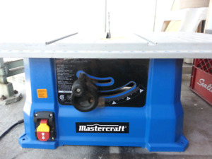 "MASTERCRAFT 10"" Table Saw excellent working condition"