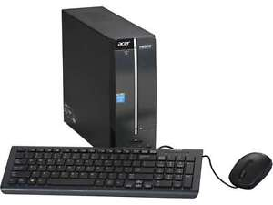 Acer Aspire AXC-603G-UW30 Desktop PC Intel J1900 Quad-Core 2.00GHz, 4GB DDR3 RAM