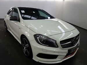 2014 Mercedes-Benz A250 176 Sport Calcite White 7 Speed Automatic Hatchback Albion Brimbank Area Preview