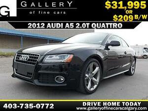 2012 Audi A5 S-LINE QUATTRO $209 bi-weekly APPLY NOW DRIVE NOW