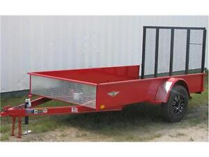 H&H 5.5' x 10' Solid Side Utility Trailer