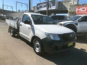 2014 Toyota Hilux TGN16R MY14 Workmate White Automatic Cab Chassis Granville Parramatta Area Preview