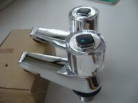 New bathroom boxed pair chrome bath taps 22mm - southbourne