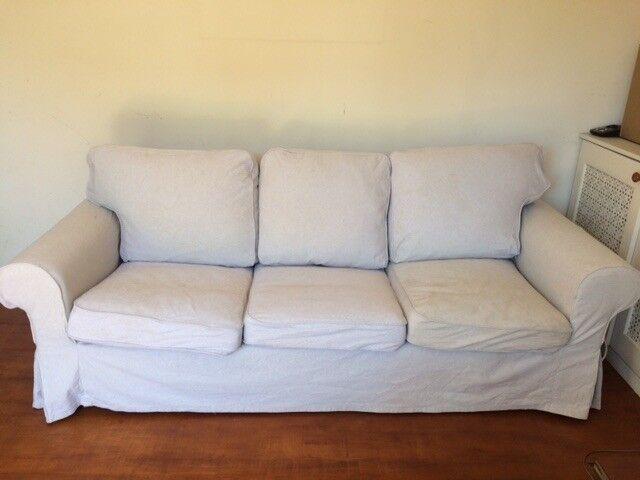 Ikea Ektorp 3 Seater Sofa Nordvalla Dark Beige Cover Washed In Cambridge Cambridgeshire Gumtree