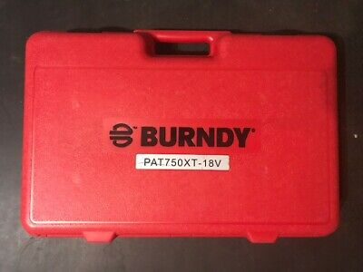 Burndy Patriot Pat750xt-18v Battery Powered Hydraulic Cable Wire Cutter Tool Kit