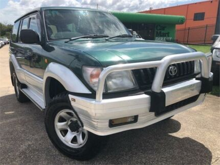 1997 Toyota Landcruiser Prado VZJ95R GXL (4x4) Green 4 Speed Automatic 4x4 Wagon Slacks Creek Logan Area Preview