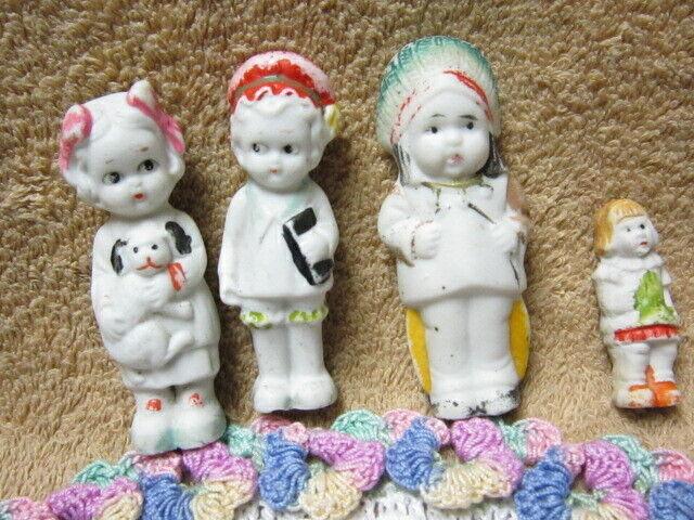 Vintage Lot Small Porcelain Bisque Dolls, 1 3/4 - 3 , USED - $9.99