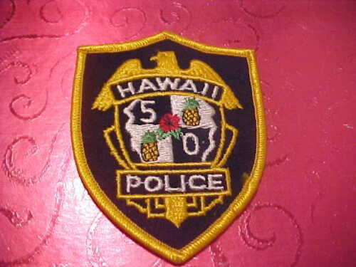 HAWAII 5-0 POLICE PATCH SHOULDER SIZE UNUSED 4 X 3