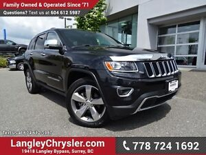 2014 Jeep Grand Cherokee Limited W/ 4X4, LEATHER UPHOLSTERY &...