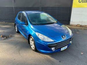 2007 Peugeot 307 T6 XS Blue 5 Speed Manual Hatchback Invermay Launceston Area Preview
