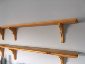"""Solid wood shelves 36"""" x 5.5"""" - $5 each"""