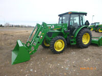 JOHN DEERE 2014 5065e cab tractor and h240 loader CLEARANCE SALE