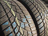 245/45/18 Dunlop 3D, M+S Winter, Runflat BMW x2 A Pair, 5.4mm (456 Barking Rd, Plaistow, E13 8HJ)
