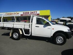 2008 Mitsubishi Triton ML MY08 GL 4x2 White 5 Speed Manual Cab Chassis Kedron Brisbane North East Preview