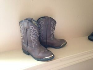 All Leather Cowboy Boots - Size 6