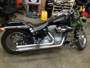 trade mint Harley softail for side by side