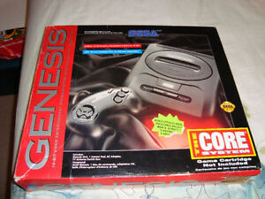 SEGA GENESIS WITH 2 CONTROLLERS AND 6 GAMES IN ORIGINAL BOX