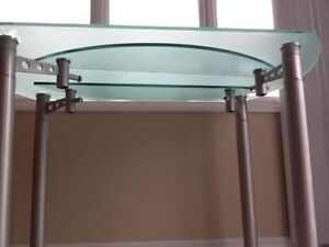 """GLASS """"ROUND"""" TABLE 48"""" diameter, and 30"""" high, very strong--$50"""