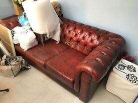 chesterfield sofa 3 seater, antique owned over 30 years quick sale as moving house