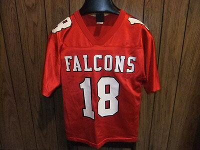 vintage Atlanta Falcons football jersey med youth red Wilson 80s Calvin  Ridley 8bda4d8b8