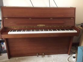 Lovely upright mahogany Hopkinson piano and stool