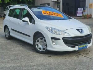 2010 Peugeot 308 T7 XS White 6 Speed Manual Hatchback Mayfield East Newcastle Area Preview