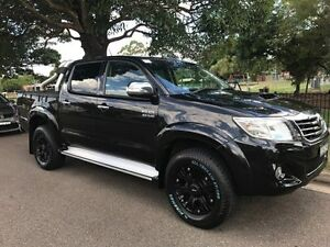 2013 Toyota Hilux KUN26R MY14 SR5 Double Cab Black 5 Speed Automatic Utility Croydon Burwood Area Preview