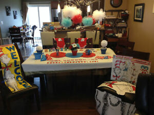 Shower Birthday Decorations Thing 1&2 Dr Seuss