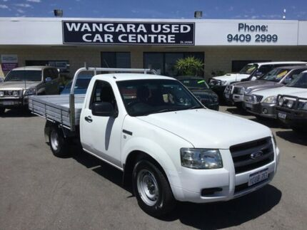 2008 Ford Ranger PJ 07 Upgrade XL (4x2) White 5 Speed Manual Cab Chassis Wangara Wanneroo Area Preview