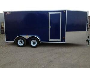 CLEAR OUT - 2015 CJay 7x14 Enclosed (Indigo Blue) - 3368