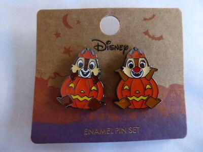 Disney Trading Pin 129784 Loungefly - Halloween Jack O'Lanterns Chip & Dale Set