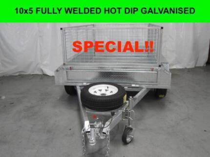 10x5 FULLY WELDED  HOT DIP GALVANISED TRAILER 2000 KG GVM