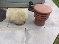 Chimney pots/caps x 2, keep those pesky pidgeons off your chimney.