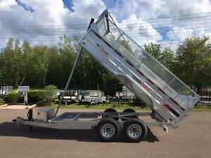 "NEW 2019 K-TRAIL 80"" x 14' HD DUMP TRAILER w/ 24"" MESH SIDES"