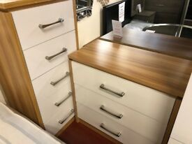 New Conrad white gloss 3 drawer chest of drawers £79