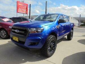 2015 Ford Ranger PX MkII XL Hi-Rider Blue Auto Sports Mode 4D Utility