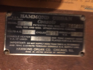 Hammond B3 and Leslie 122