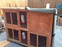 **Complete set Rabbit hutch, run, cover & accessories £80**