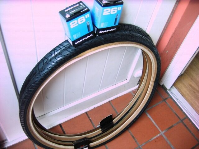 "Mountain Bike Tyres x 2 26"" Hybrid Tread Quality Raleigh Brand With Amber WallTubes Can Deliverin Downend, BristolGumtree - Mountain Bike Tyres 26"" x 2 Hybrid Tread Easier to cycle on roads and cycle track Quality Raleigh Brand With Amber Wall more visible at night 2 x 26"" Tubes Can Deliver if Local"